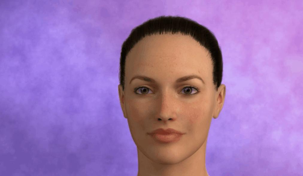 Symmetrie Nase