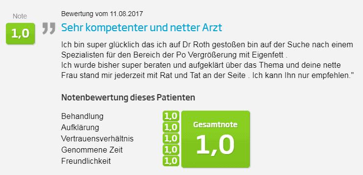 Jameda Bewertung Nasenverkleinerung in Düsseldorf